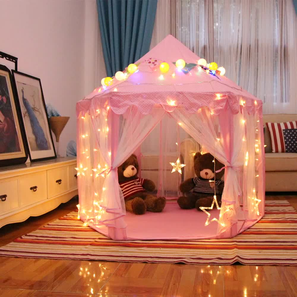 Hot Sale Outdoor Indoor Princess Castle House Kids Toy Play Tent For Girls