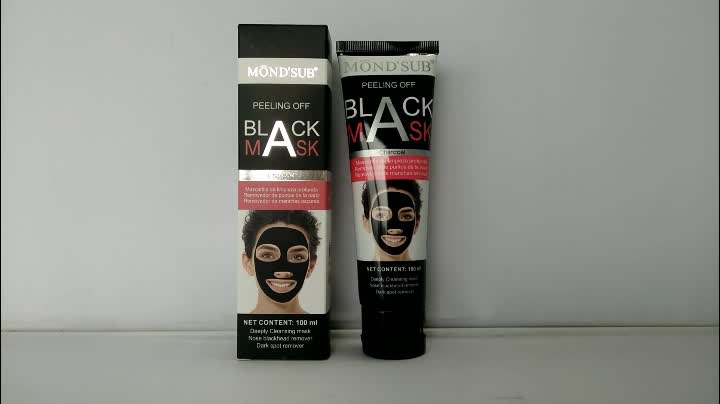 Private label blackhead pore strips black face mask for facial skin cleanser
