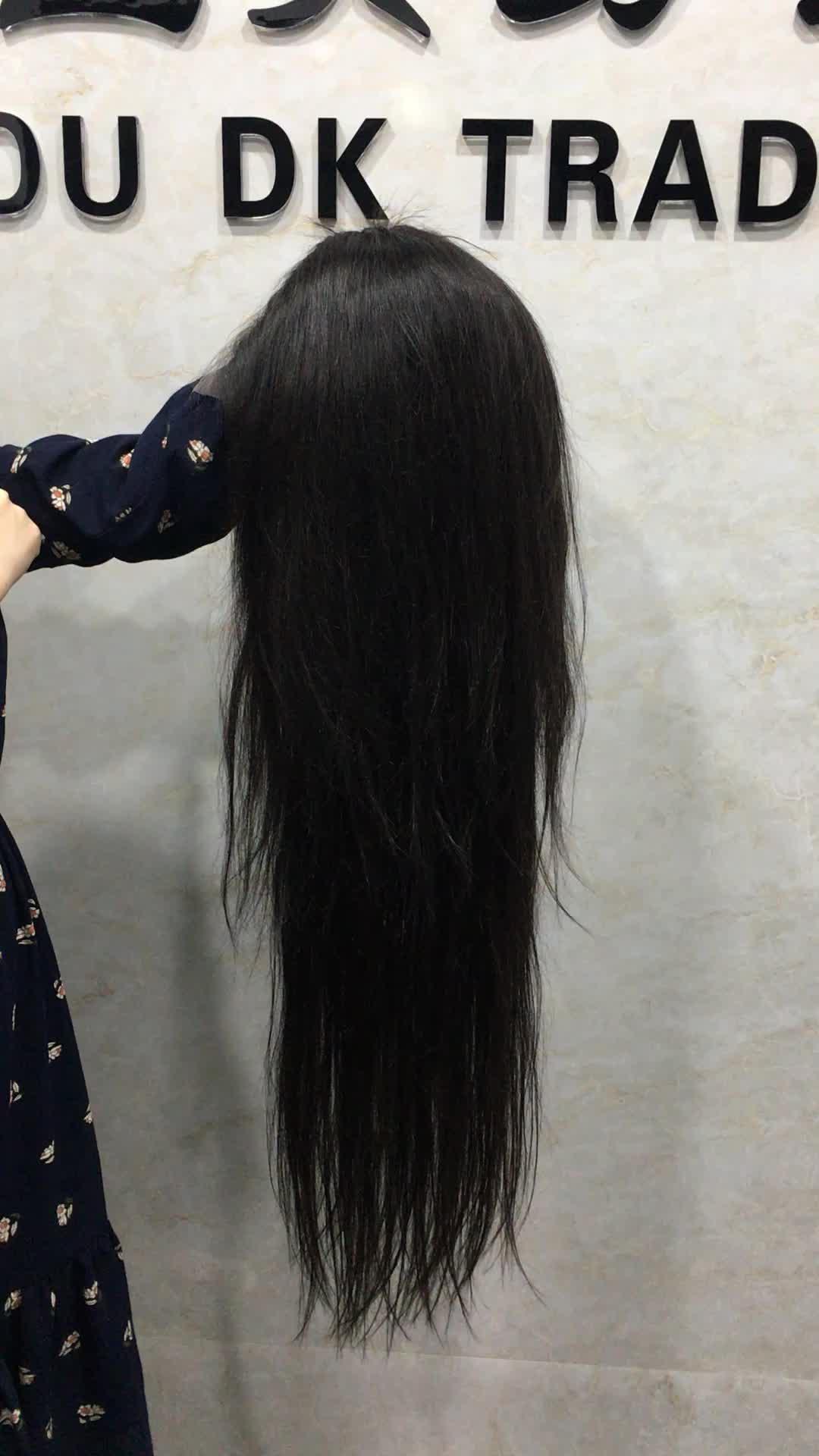 Nyata HD Renda Wig 100% Perawan Rambut Manusia Digunakan Dipetik Dikelantang Simpul 5X5 HD Renda Penutupan Depan wig