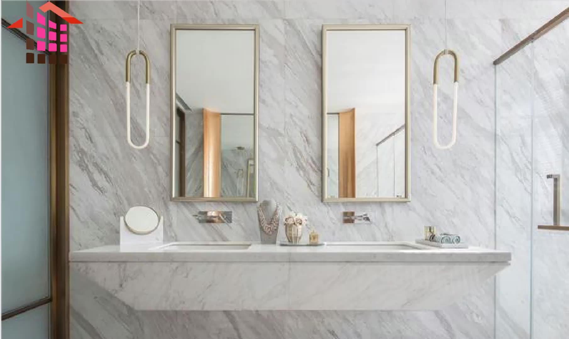 イタリア白 volakas 24 × 24 大理石タイル石の床