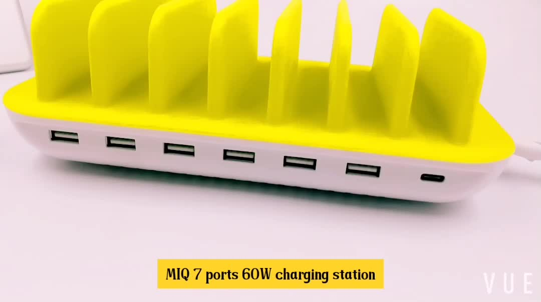 best seller 60w power charger multiple cell phone charging station portable electric charging stations near me