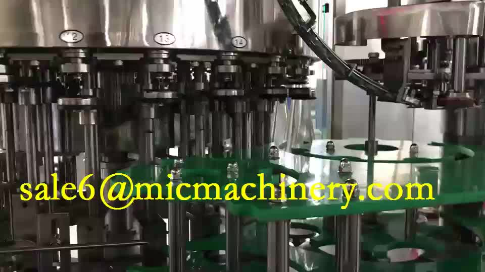CE standard plastic Cap glass bottle rice wine filling machine 6000bph with 18 heads