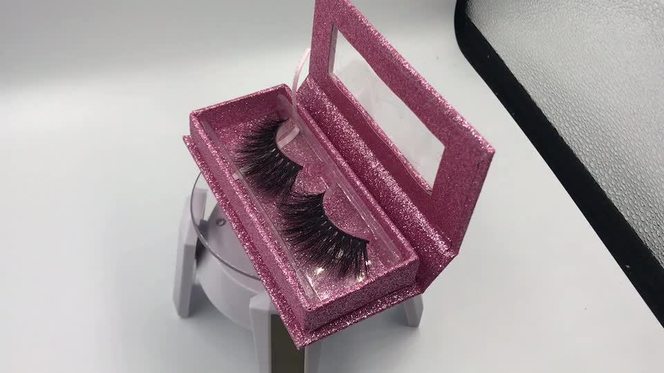 25MM False eyelash packaging box custom empty eyelash box eyelash plastic tray
