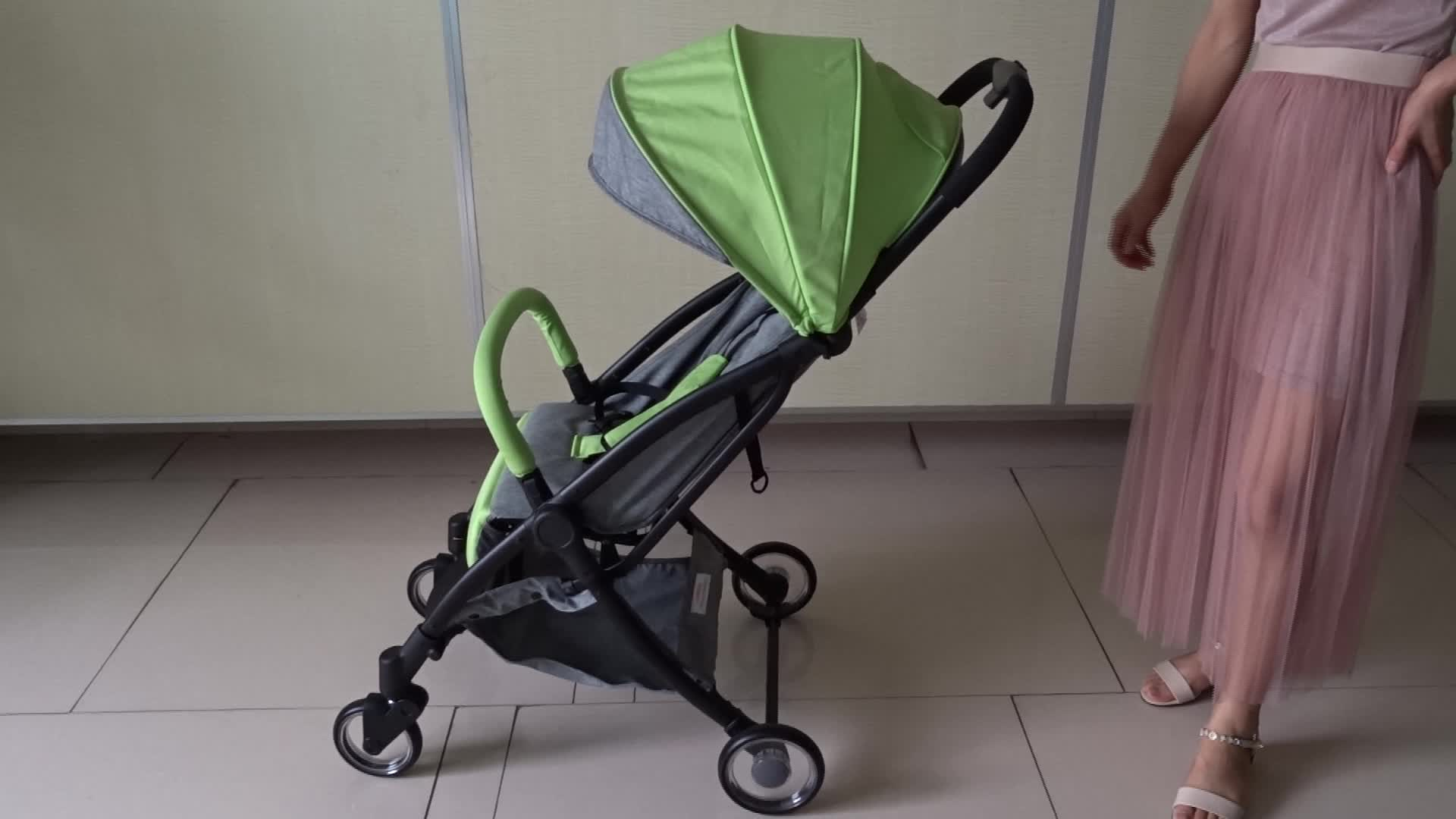 Cheap Price One Hand Auto Fold Portable Compact Baby Stroller
