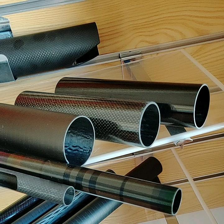 1000 мм 3 к саржевая матовая ткань переплетенная ручка пултрудированный углерод 45 мм пултрудированная овальная композитная стекловолокно стеклянная труба большого диаметра