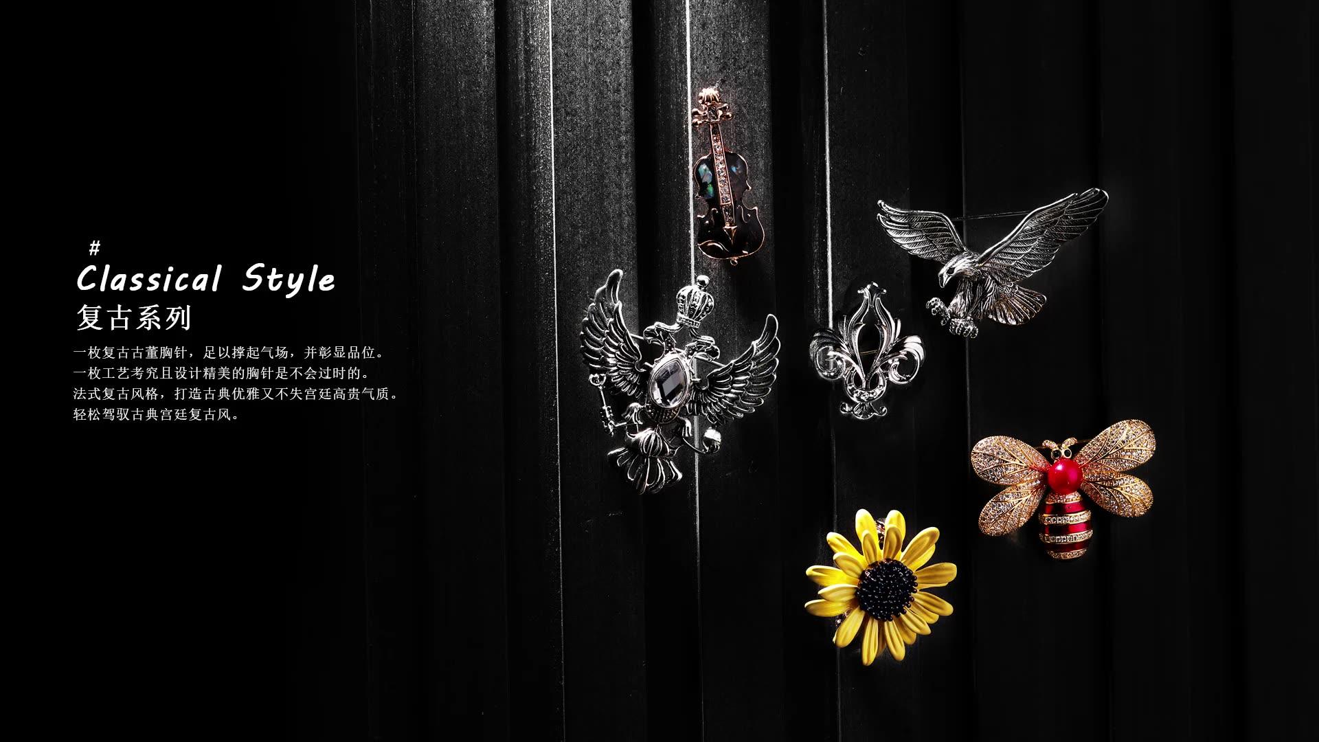 Broche couronne d'aigle Vintage, 1 pièce, Unique, cristal, vente en gros, broche la plus populaire pour femmes