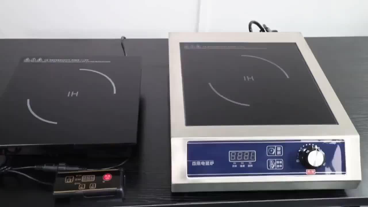 Premium nero rotondo Commerciale Concavo Frittura Wok A Induzione Fornello