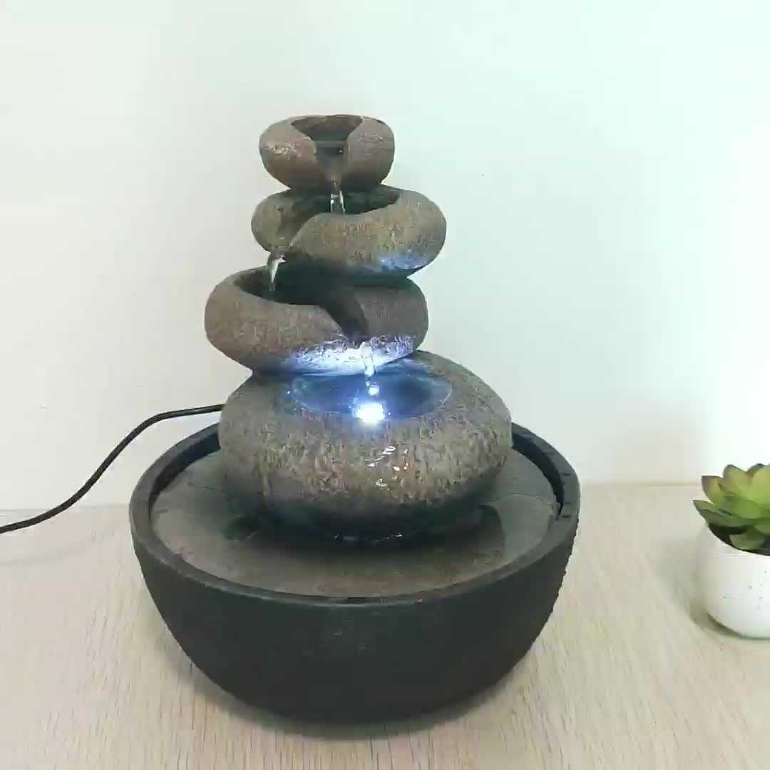 small handmade water fountain indoor artificial rock waterfall