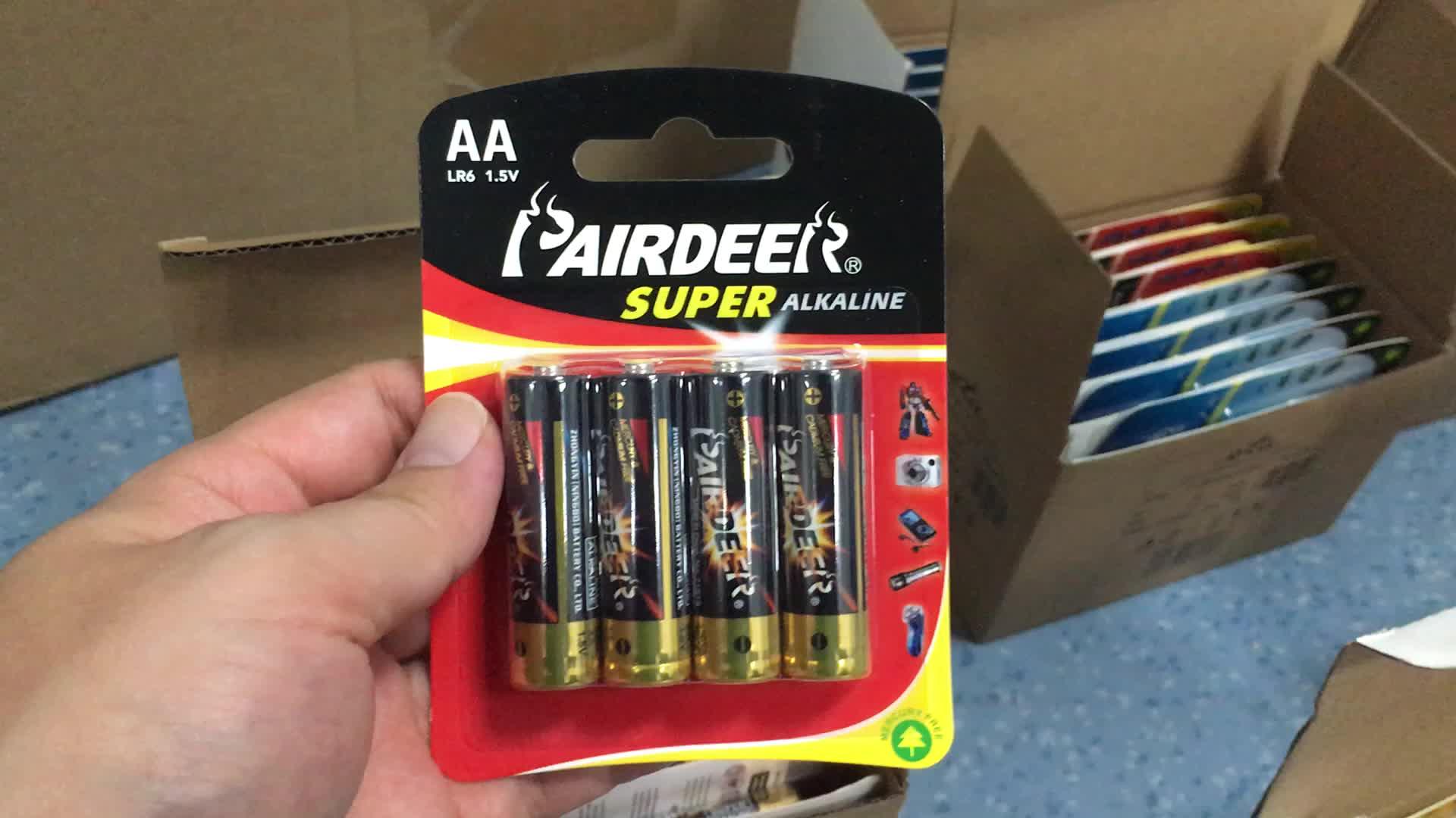 Pairdeer 2900mAh am3 aa 1.5v lr6 lr03 alcaline no. 5 batteria a secco