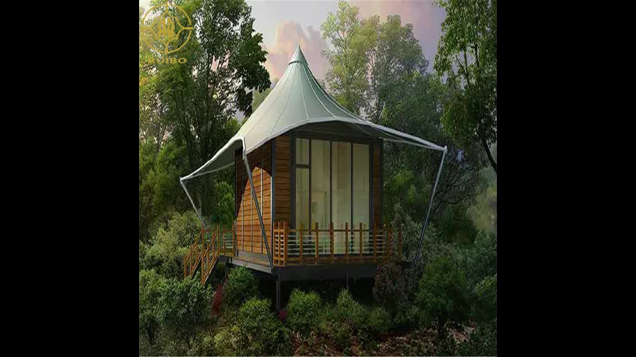 glamping prefab house permanent tent