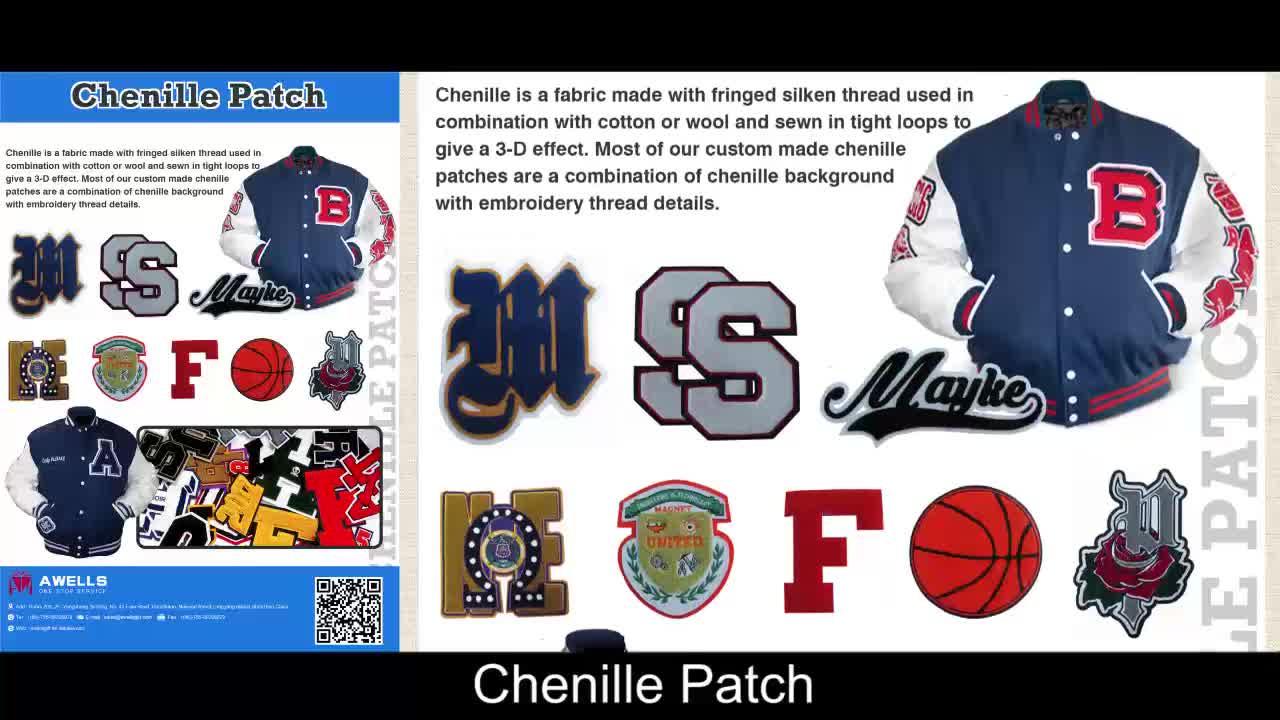 no minimum order quantity custom chenille patches
