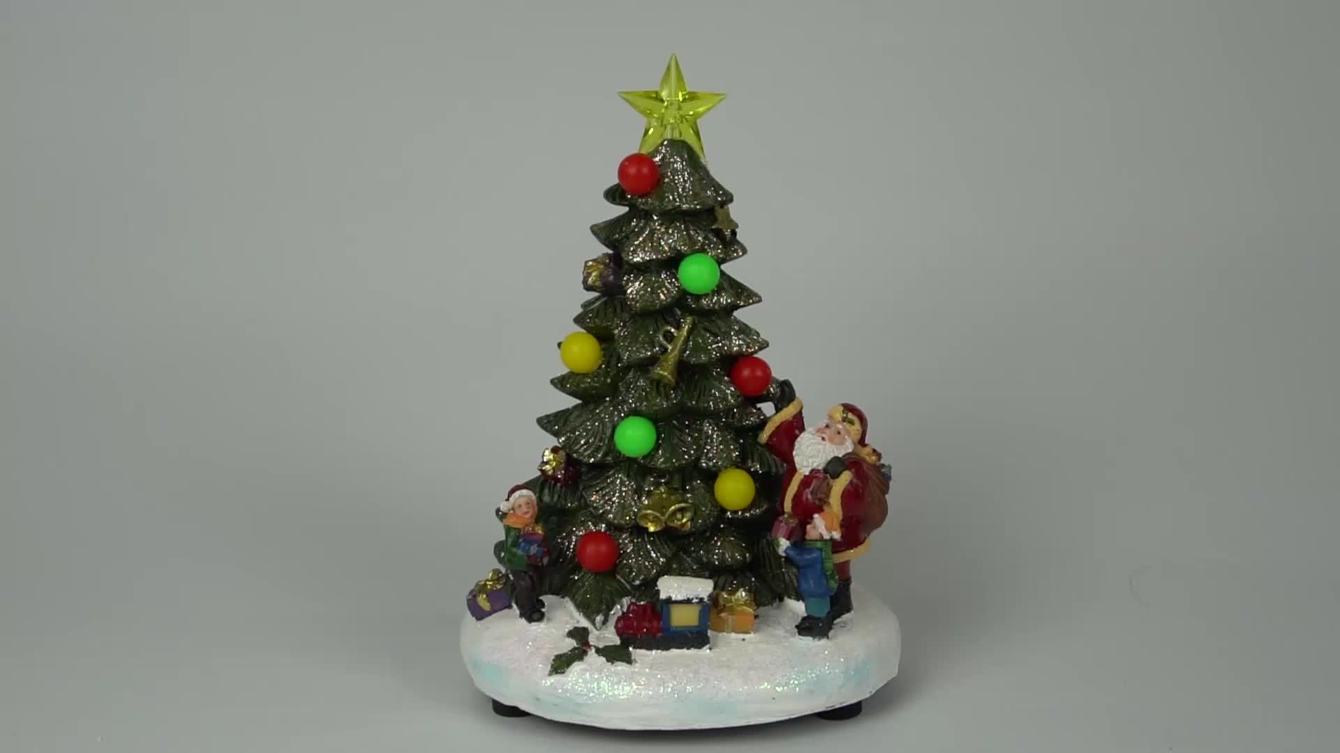 Wholesale Holiday Tabletop Decor Custom Led Resin Xmas