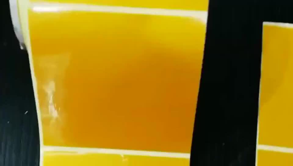 12.4X11.5cm özelleştirilmiş boyutu Sticker trafik yansıtıcı kutup