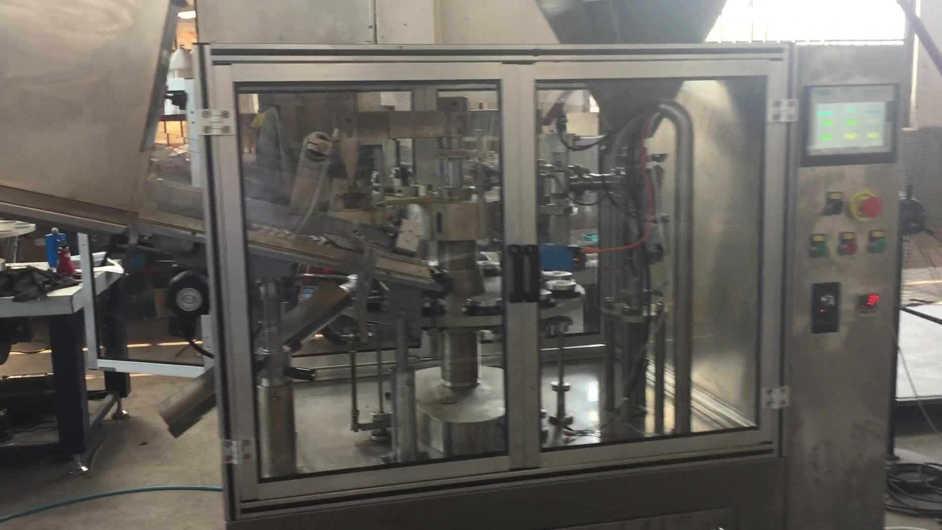 Full automatic aluminum tube filling sealing machine for cosmetic cream and ointment