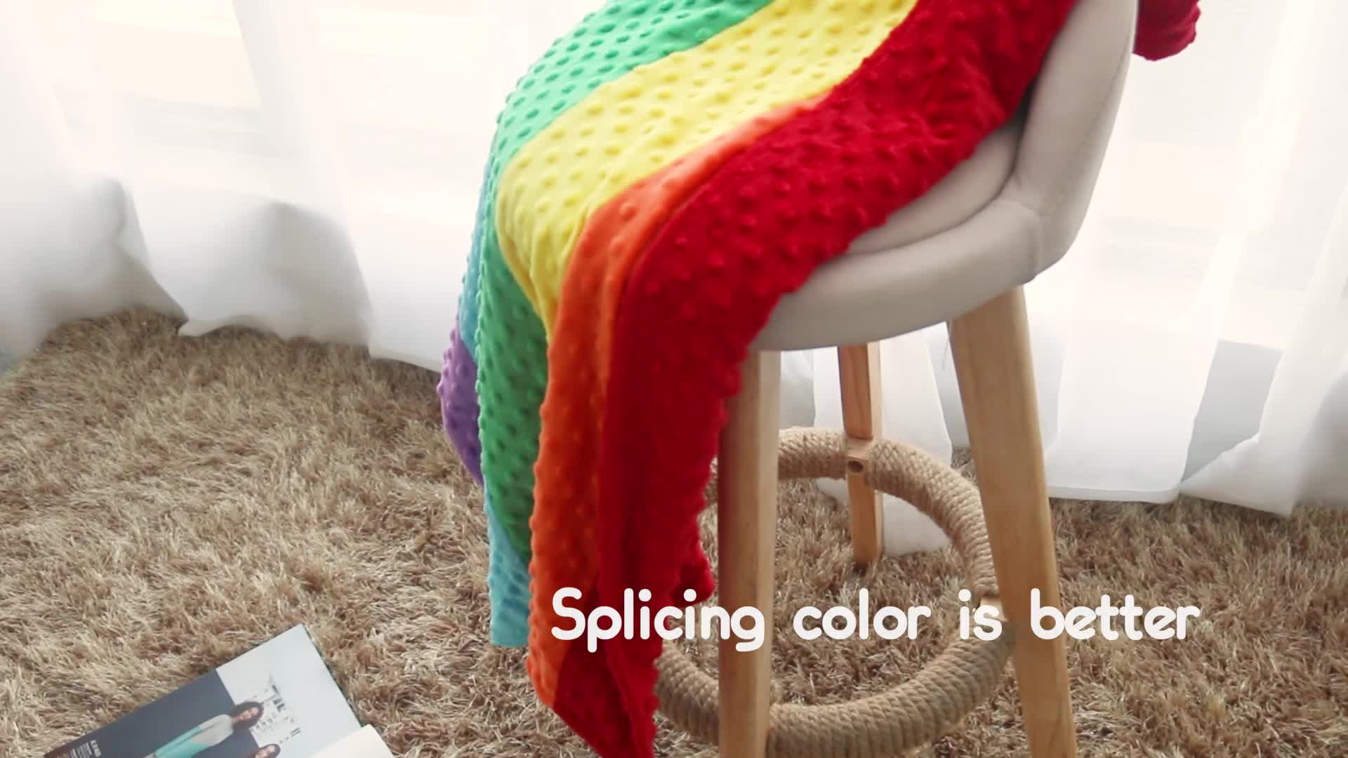 Großhandel Advanced Technique Super Soft Minky Dot Fleece Stoff