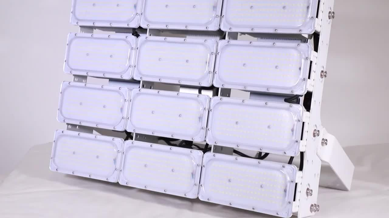 LUXINT Economical Modular 1200W stadium use led flood lamps with small beam angle