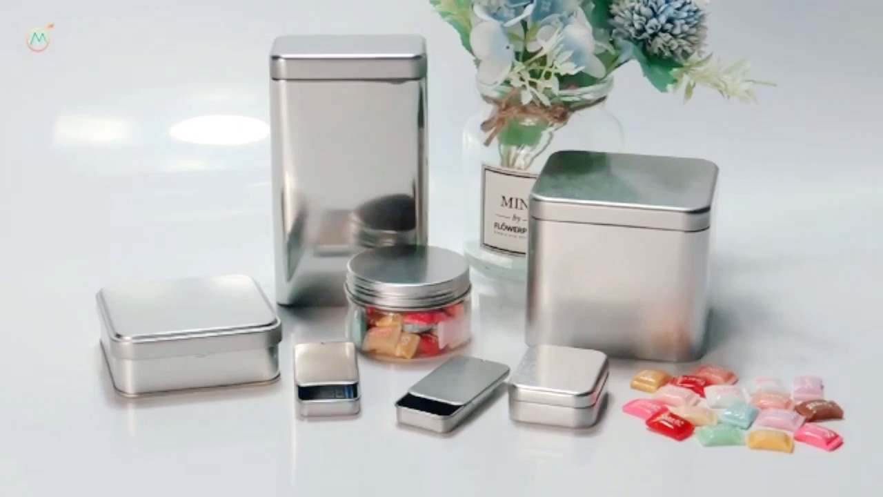 Custom small tin empty lip balm containers with sliding lid/ sliding tin box for solid perfume containers