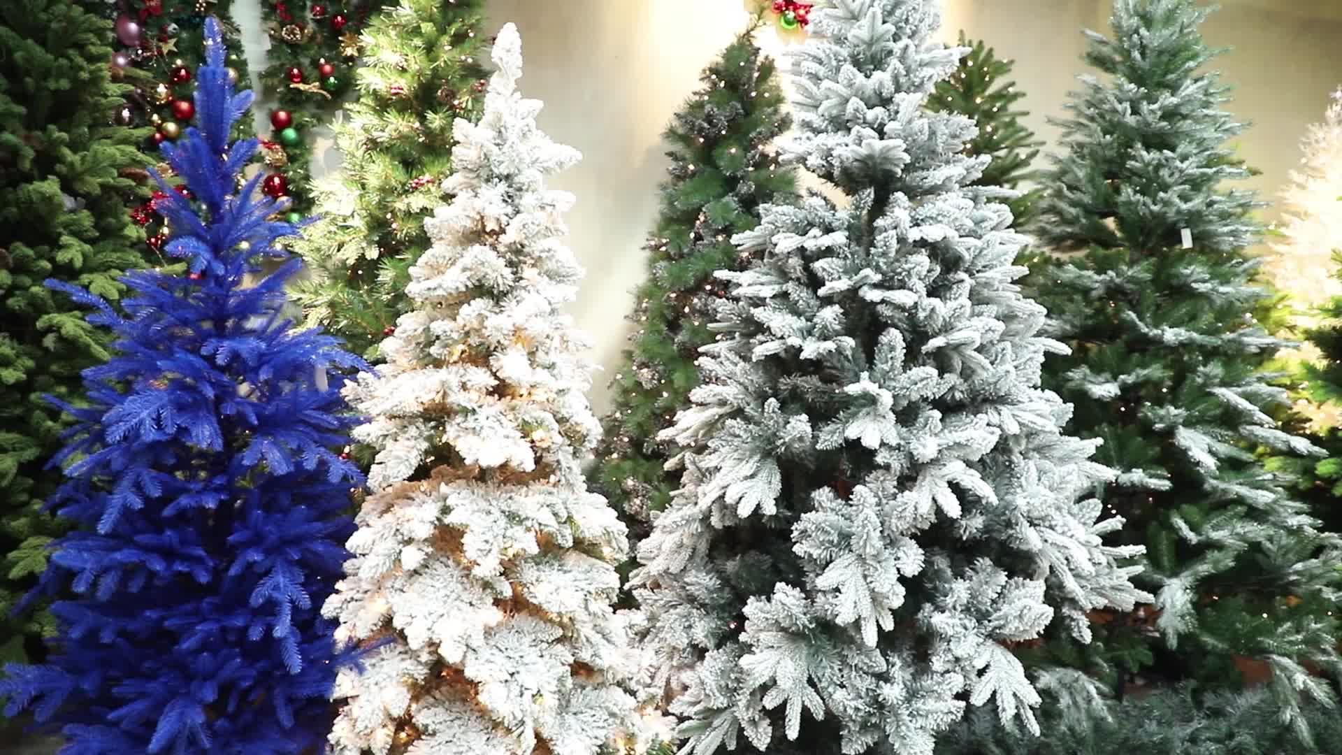 California pine unique artificial flocked christmas tree
