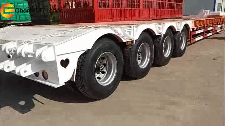 chengda special purpose vehicle, heavy machine transportation semi trailer low bed