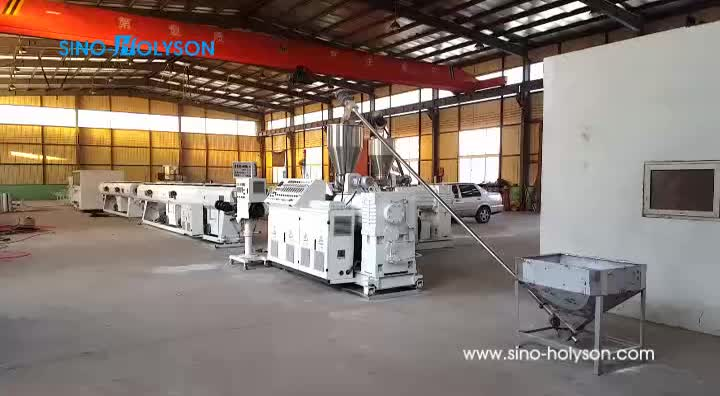 SINO-HOLYSON Electric Conduit PVC Pipe Making Machine / Water Supply PVC Pipe Making Machine