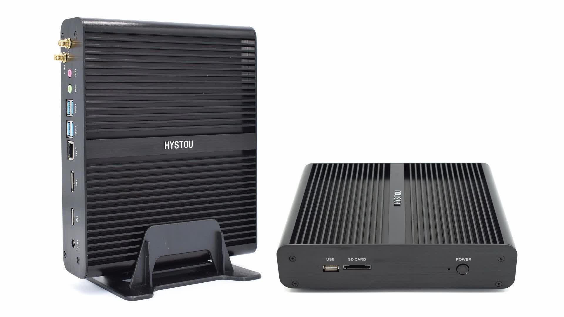 Hystou 新ミニ pc i7 と 8th 世代 i7 8550u デスクトップ pc 無線 lan 機能デュアルコアミニコンピュータ