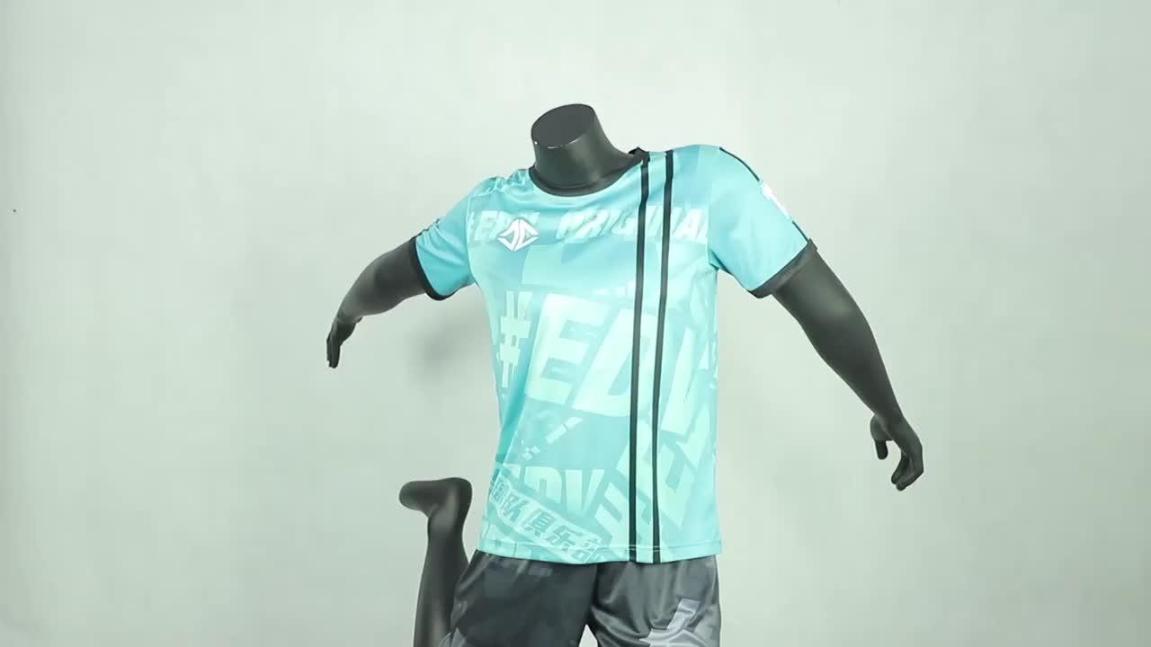 새로운 모델 맞춤형 최신 디자인 빠른 건조 승화 팀 축구 청소년 축구 유니폼 저지 키트 세트 판매