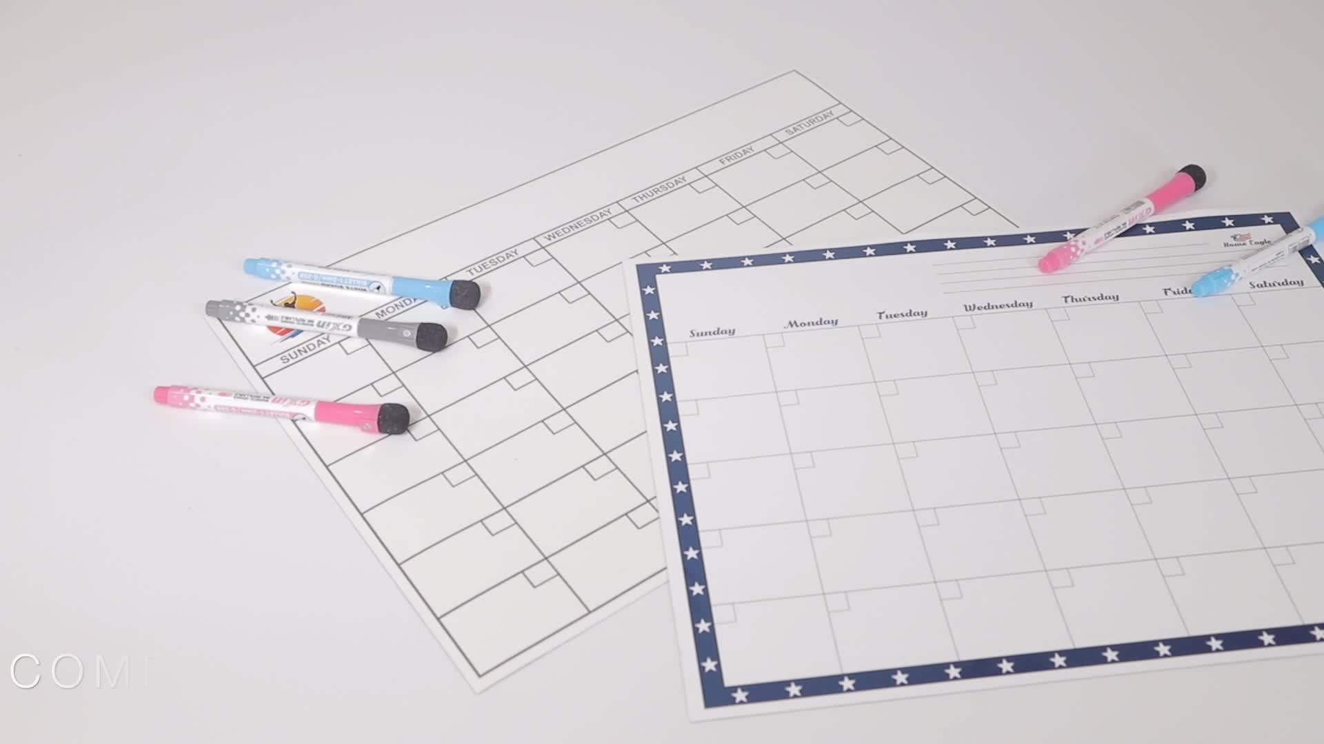 Premium Magnetico Secco Cancellare monthy planner lavagna per il frigorifero include marcatori