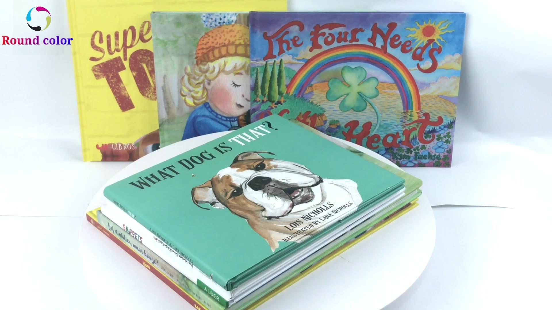 גואנגדונג OEM מקצועי מפעל דפוס כריכה קשה זול הדפסת ילדי ספר