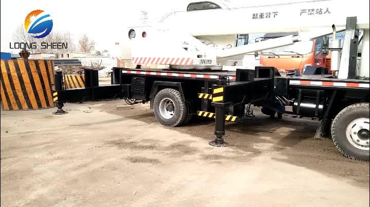 8 tonluk Mini pikap kamyon vinci Hidrolik Vinç Teleskopik Bom, 10 Ton 12 Ton mobil kamyon üstü vinç, kamyona monte vinç