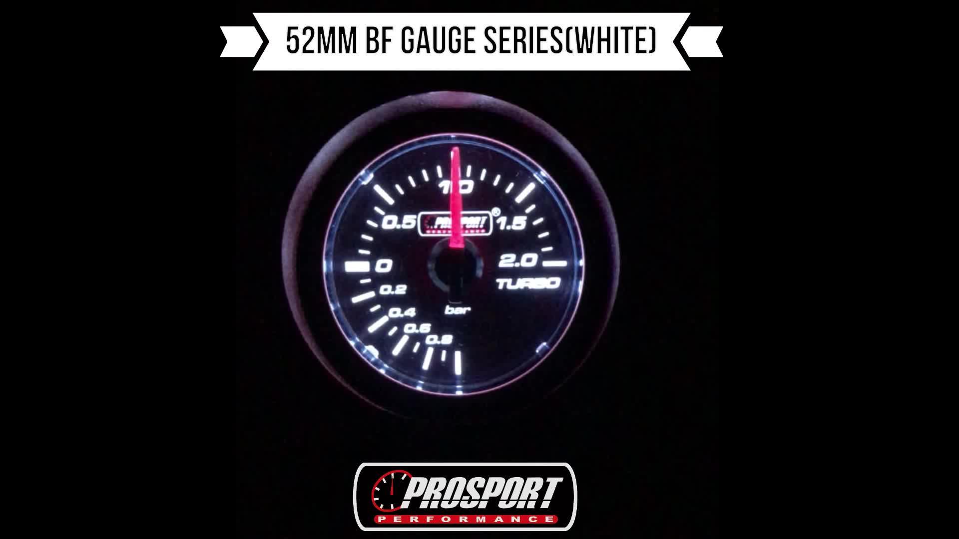 52mm Tuning Grundlegende Weiß LED Diesel Gauge Turbo Druck Meter