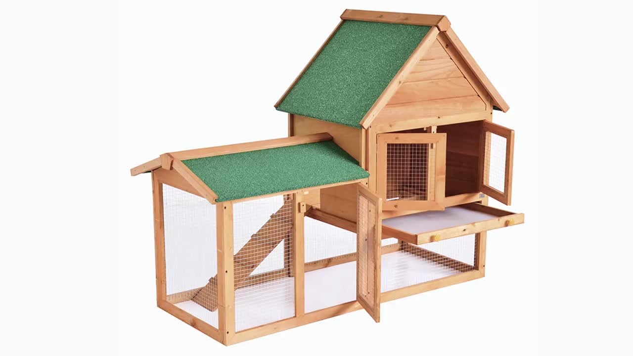 Big Wooden Rabbit House Hutch Cage Sale For Pets