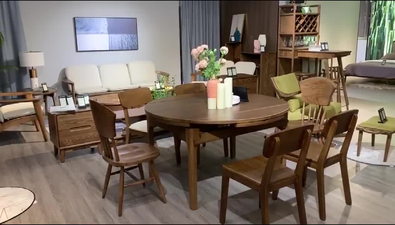 Dining Table Set Wood Round Dining Table Extendable