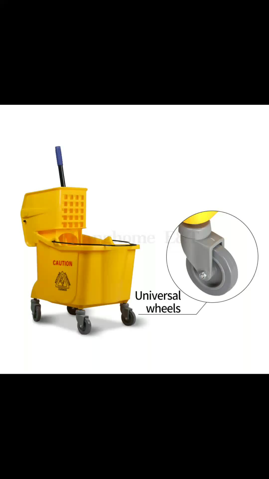 36L squeeze wringer mop trolley with side-press for mop bucket wringer small mop bucket with wringer