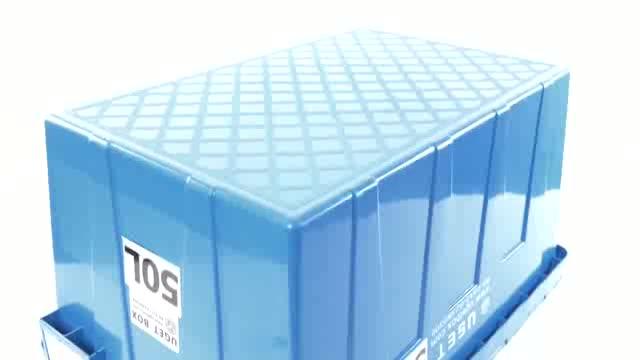 Removable Heavy Duty Plastic Storage Tote Moving House Box Containers From China