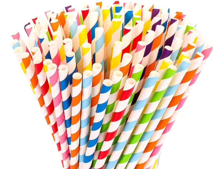 10mm Personalized Eco Paper Straws Recycled