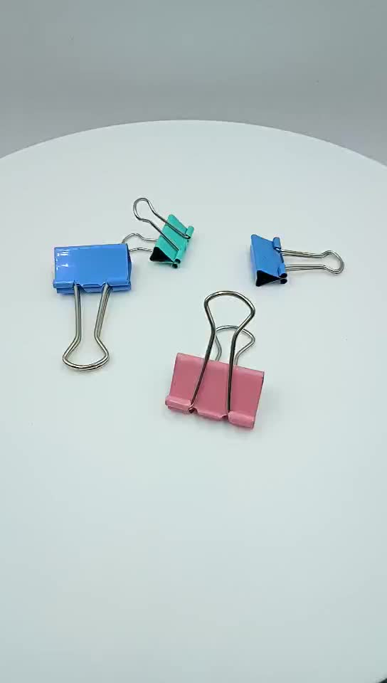 Documents files tickets folder metal letter clips fold back binder clips 15mm to 51mm