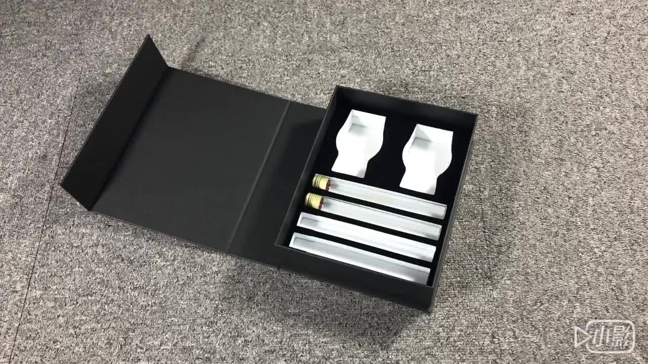 Custom wholesale black gift packaging perfume box