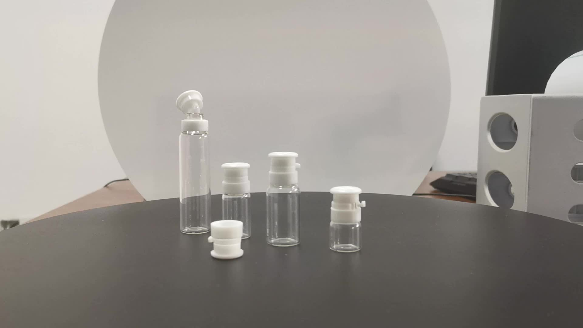 2ml 3ml 5ml 10ml Empty medical glass vials with tearing off cap for pill,liquid packing