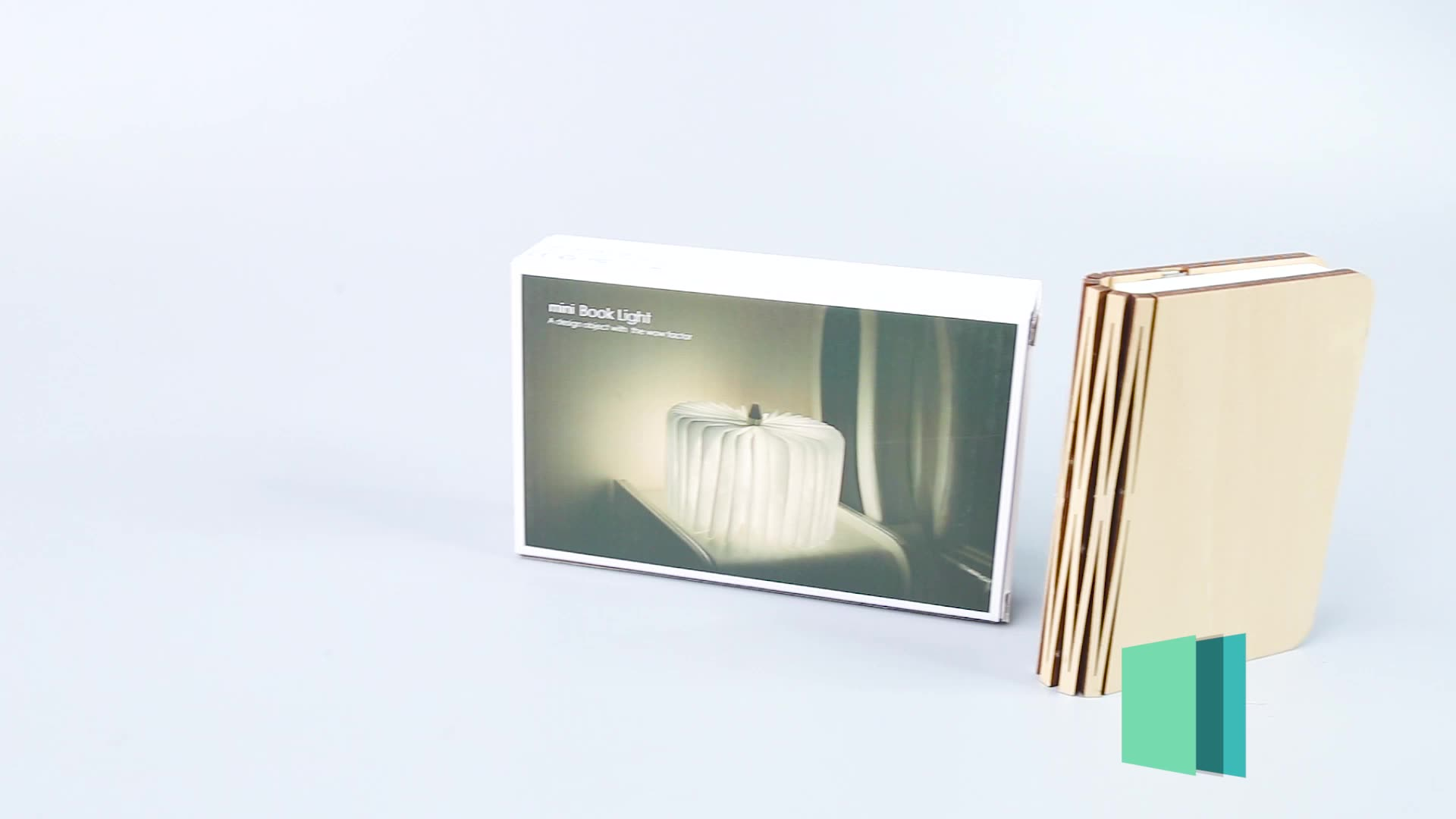 2020 Trending products tyvek paper folding led book lamp with wooden cover