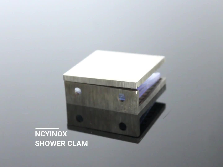 0 डिग्री स्टेनलेस स्टील के गिलास ब्रैकेट गिलास करने के लिए दीवार दबाना 2mm 3mm मोटाई छिद्रण ग्लास क्लैंप करने के लिए