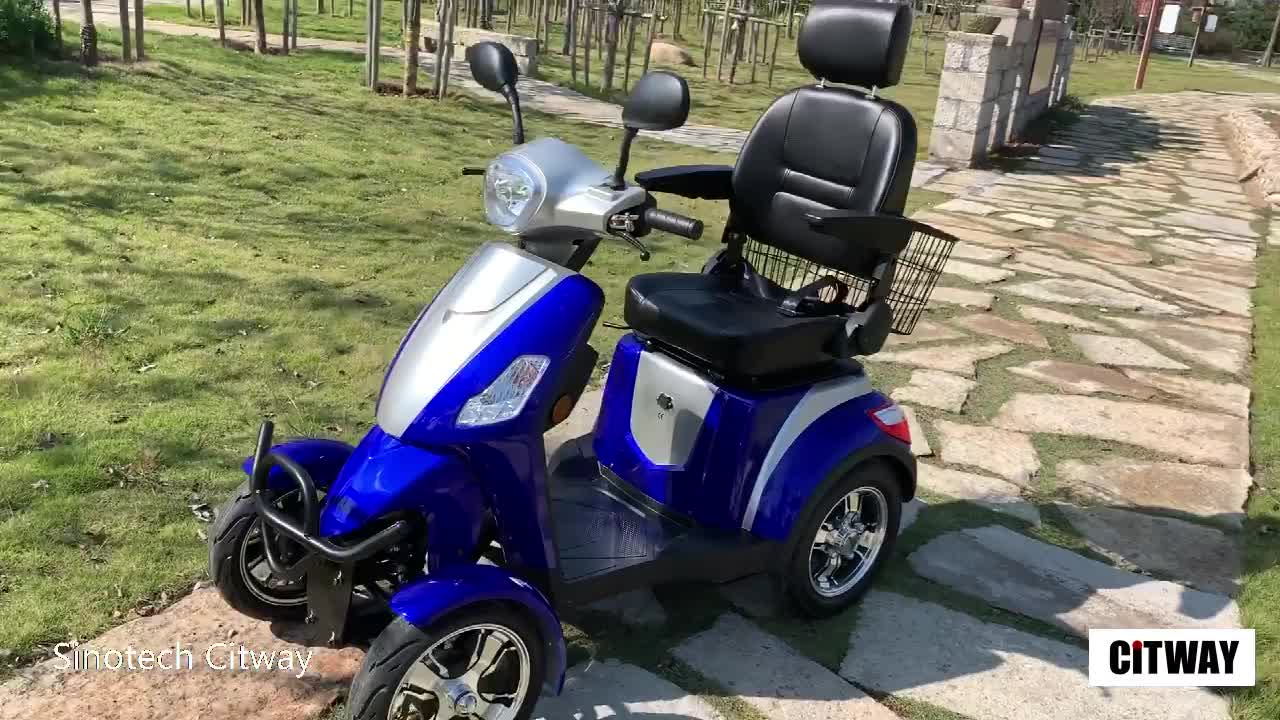 new factory price fashion 4 wheel electric mobility handicapped scooters for elderly