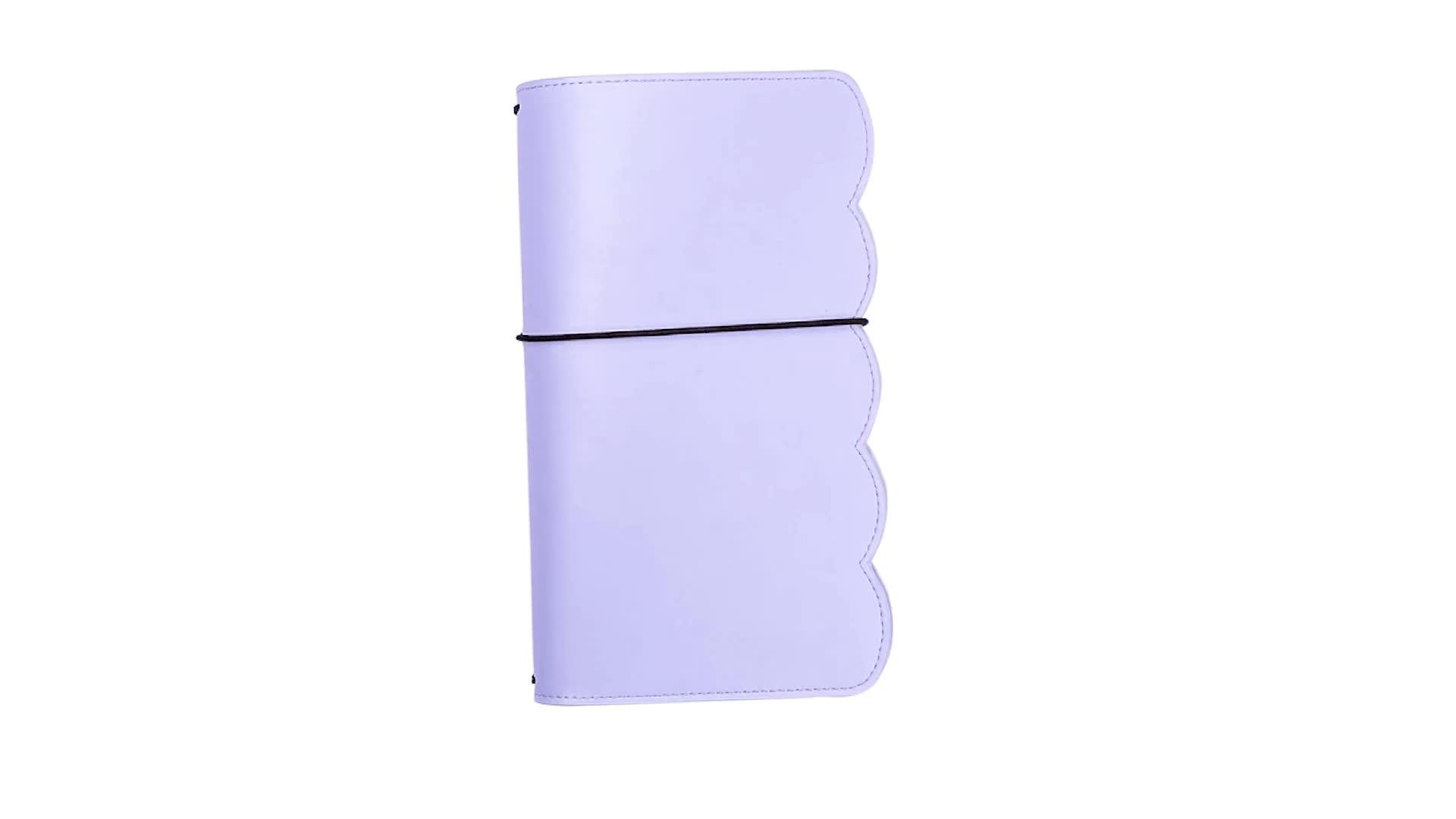 مخصص A6 مكتب القرطاسية المدرسية بو الجلود فارغة مخطط دفتر السفر مجلة
