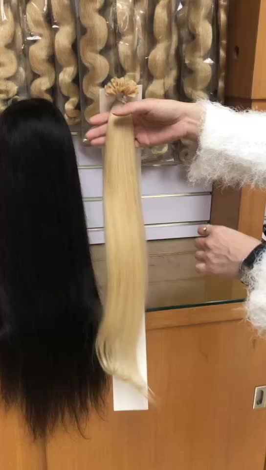 High quality blond 613 color virgin human hair wholesale 100% raw unwefted original indian remy micro ring loop hair extension
