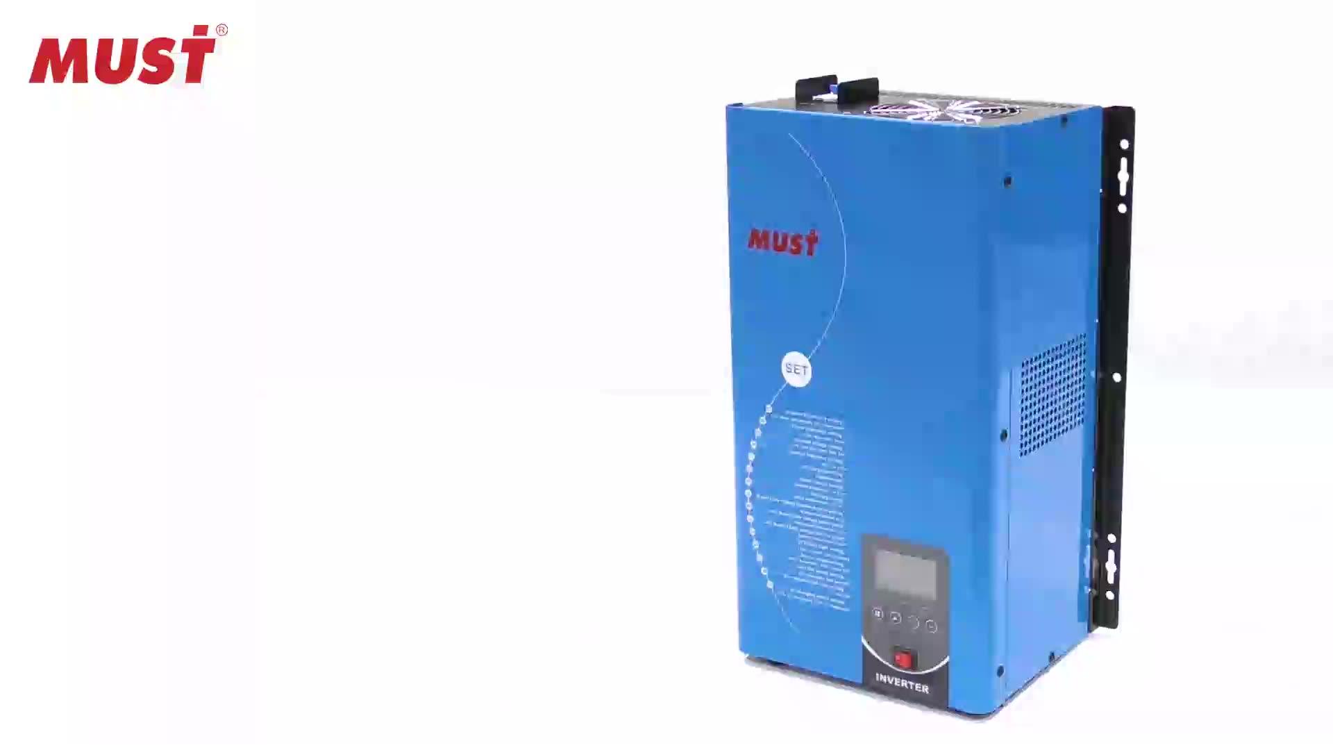 5kw 6kw Inverter Surya 220 V 230 V 240 V untuk Split Phase Rumah Menggunakan Frekuensi Rendah