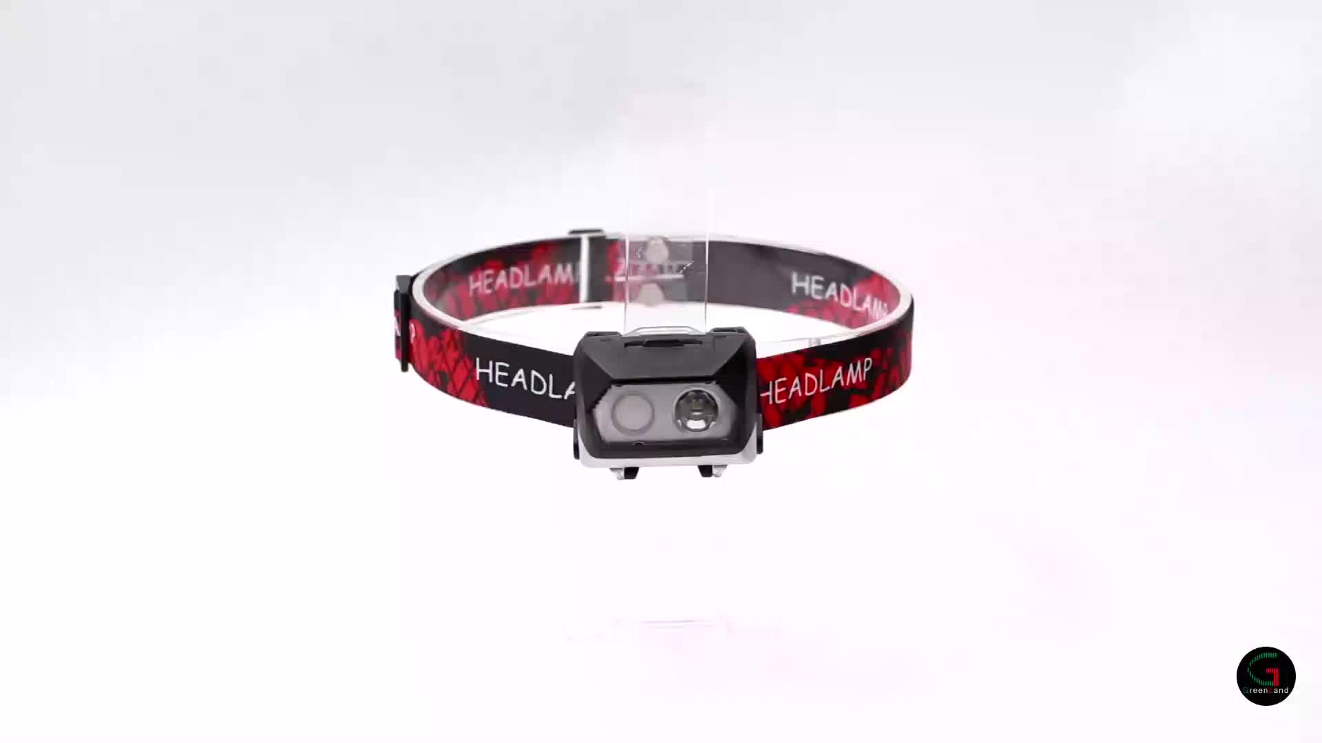 Waterproof USB rechargeable spotlight red COB outdoor lighting camping hunting tactical climbing head torch LED light headlamp