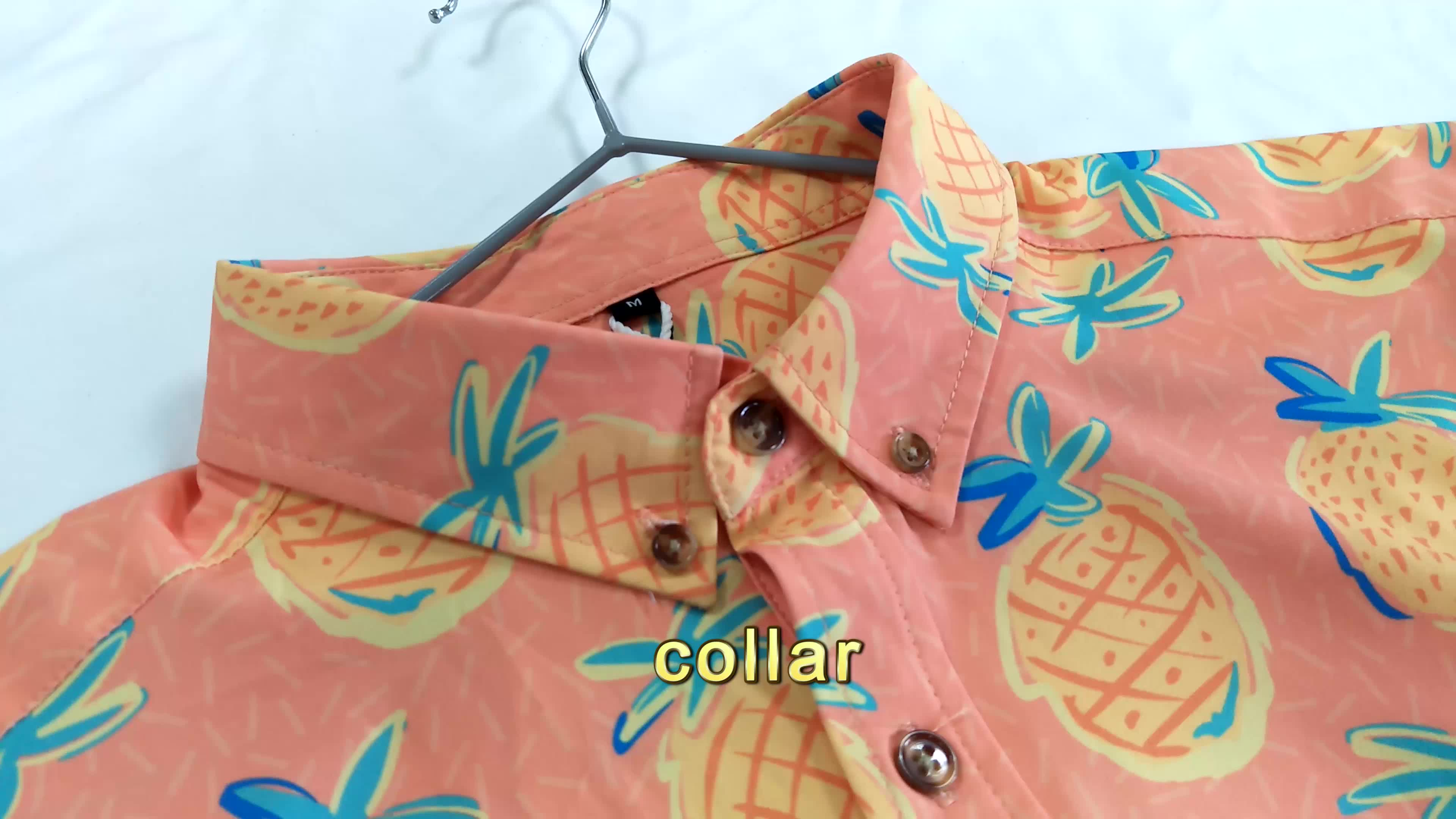 private label four way stretch floral casual style button up man shirt