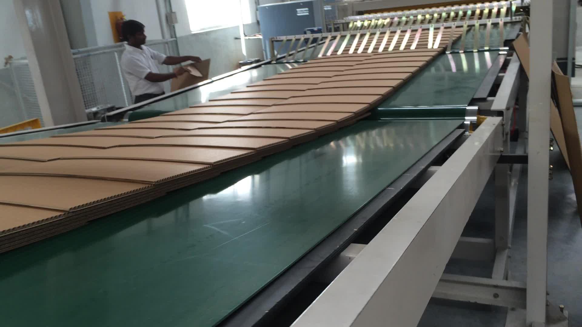 1 IPACK Up Staking Folha De Empilhamento Máquina Para Linha de Produção de Papelão Ondulado Da Caixa