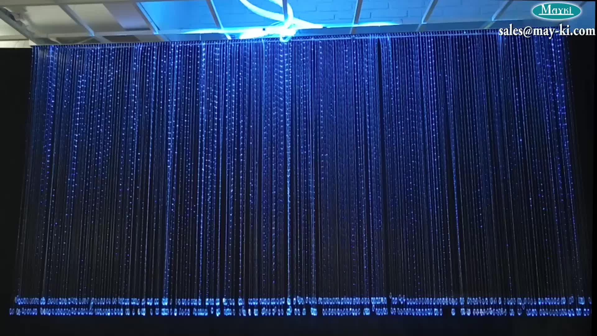 Decorative Plastic Fiber Optic Waterfall Curtain Light
