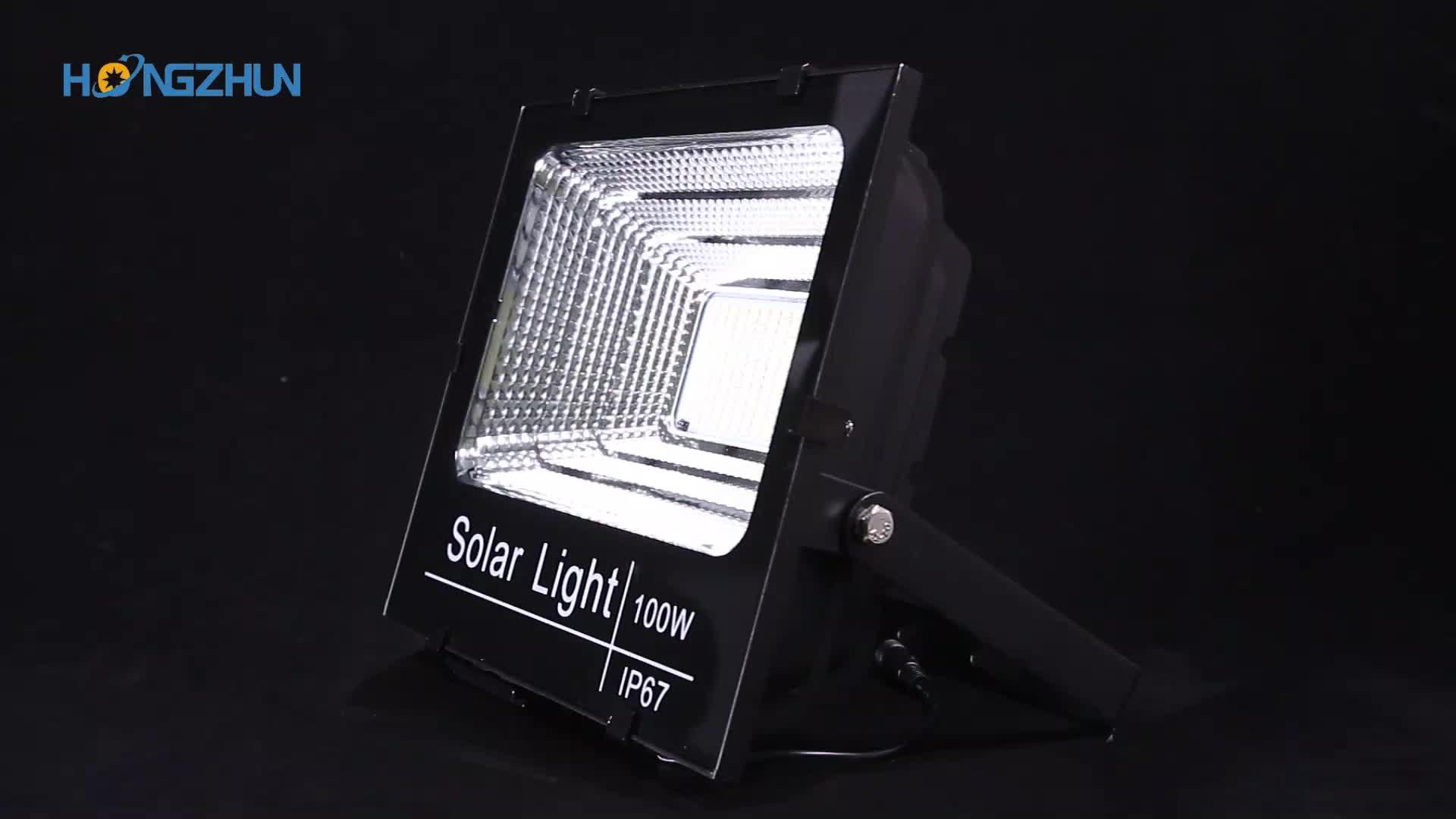 Factory Custom Super bright Aluminium 25w 40w 60w 100w 200w solar led flood light