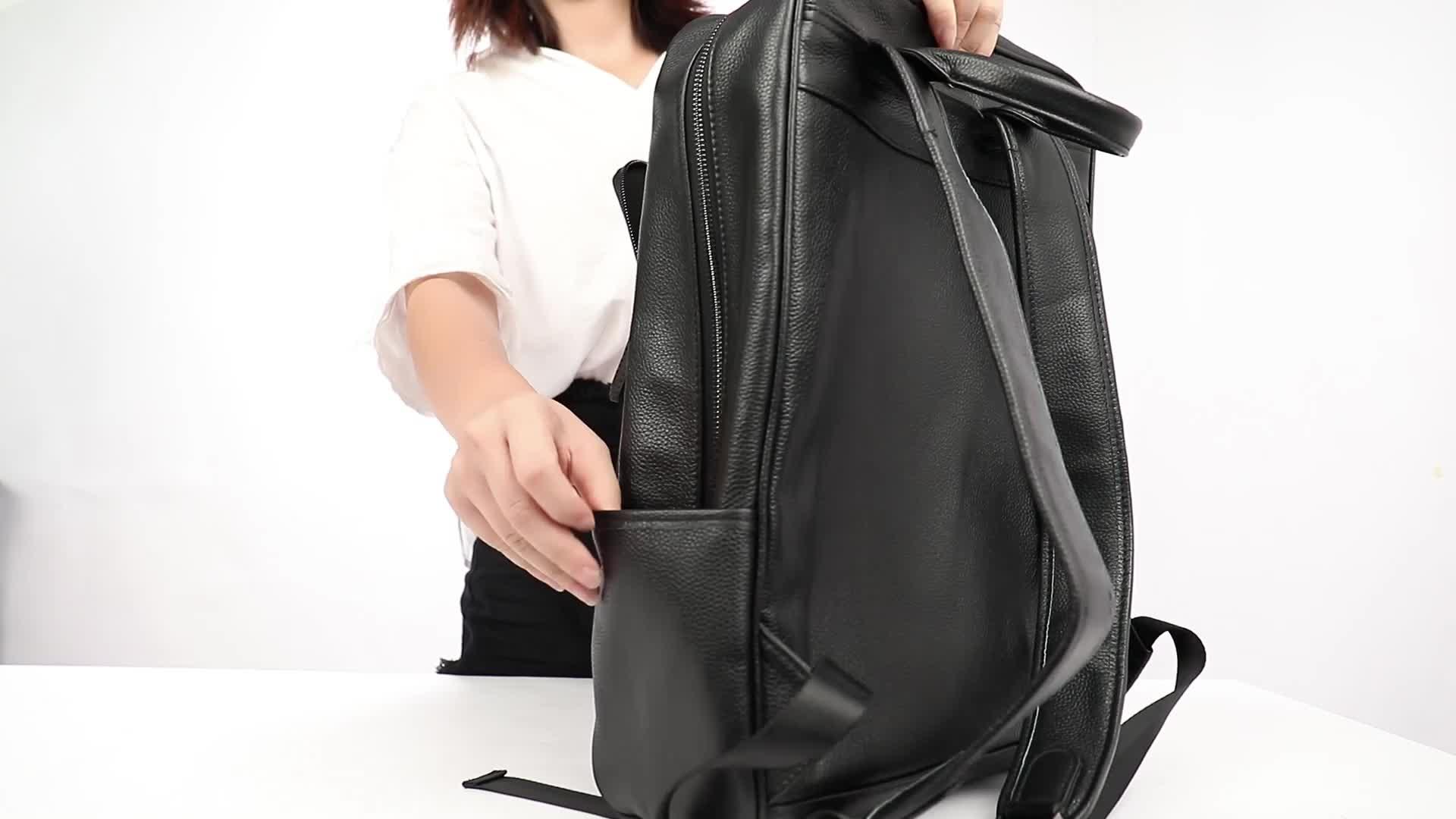 Bajo Moq aceptar logotipo personalizado 8110 de alta moda Casual escuela paquete de lujo de cuero portátil mochila bolsa 2019